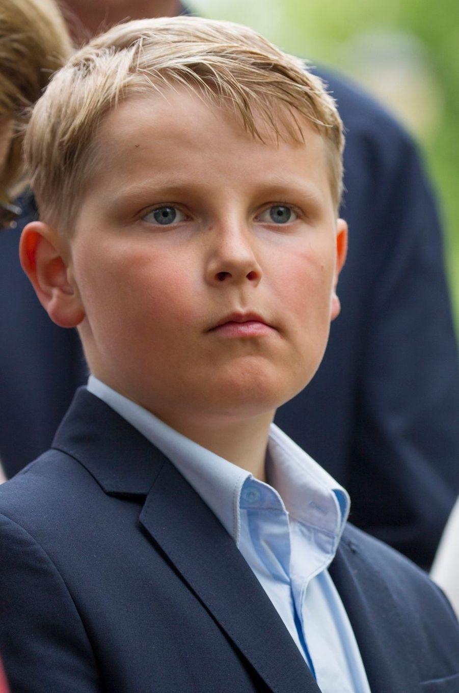 Le prince Sverre Magnus de Norvège à Oslo, le 19 mai 2016