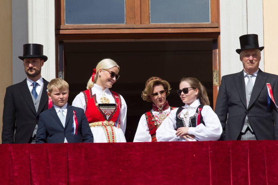La famille royale de Norvège à Oslo, le 17 mai 2016