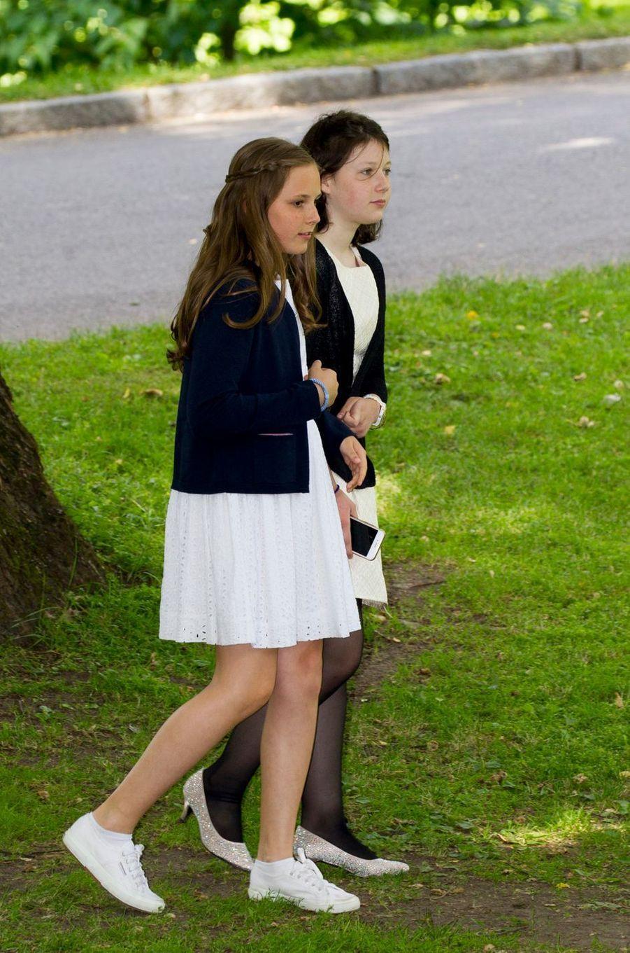 La princesse Ingrid Alexandra de Norvège et Maud Angelica Behn à Oslo, le 4 juillet 2017