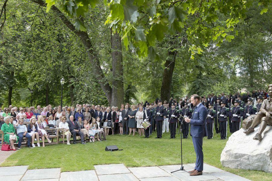 Le prince Haakon et la famille royale norvégienne à Oslo, le 4 juillet 2017