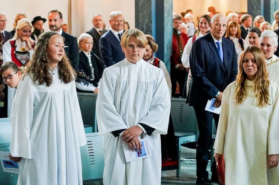Le prince Sverre Magnus de Norvège à Asker, le 5 septembre 2020