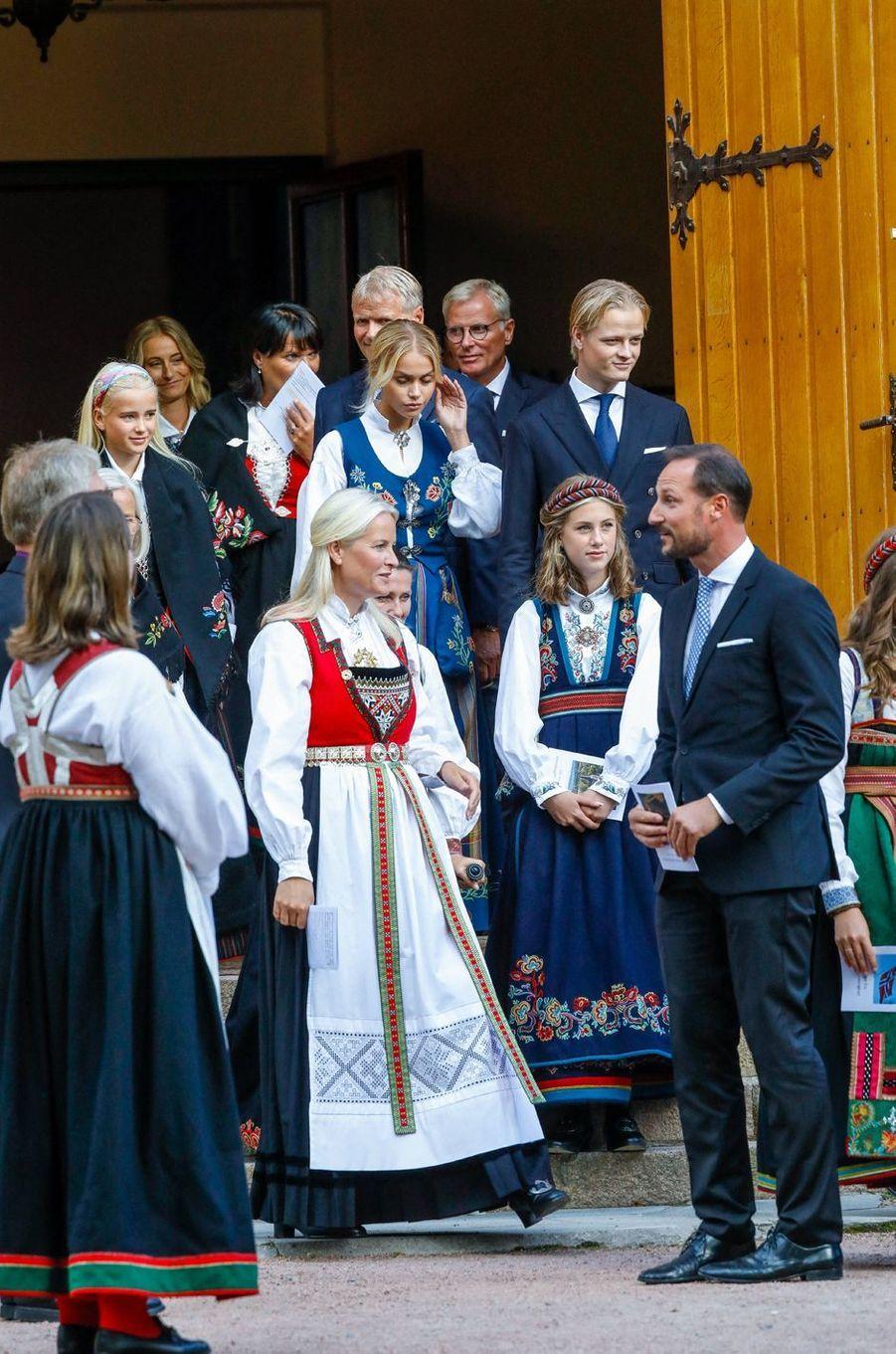 La famille royale de Norvège et celle de Mette-Marit à Asker, le 5 septembre 2020