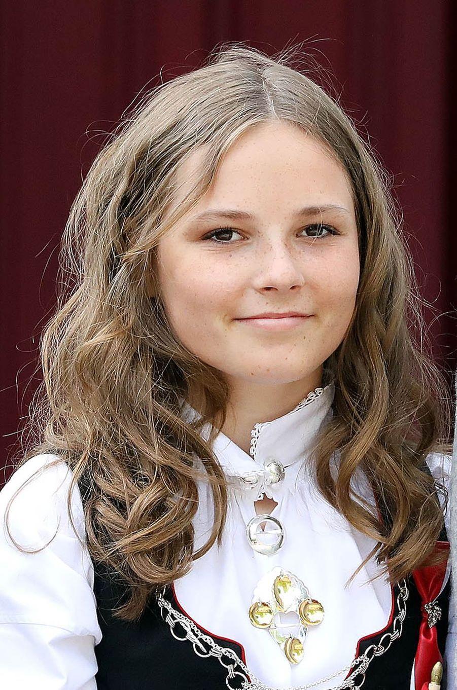 La princesse Ingrid Alexandra de Norvège à Asker, le 17 mai 2018