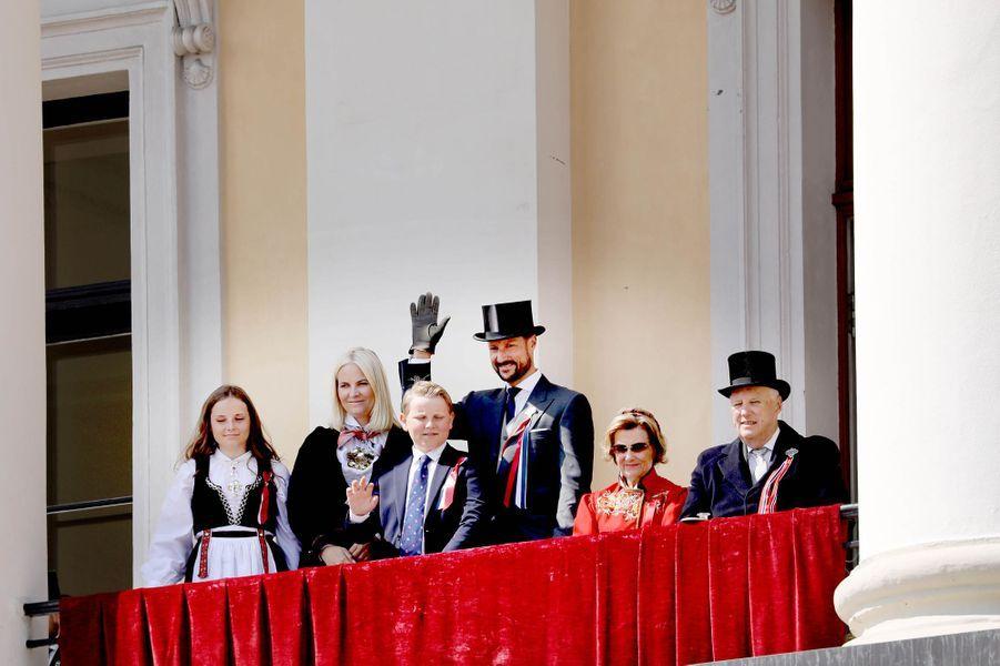 La famille royale de Norvège à Oslo, le 17 mai 2018