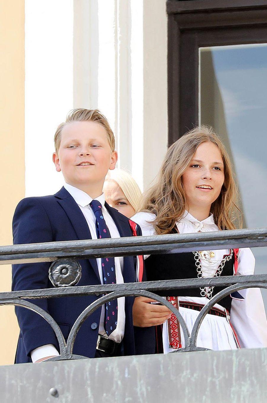 Le prince Sverre Magnus et la princesse Ingrid Alexandra de Norvège à Oslo, le 17 mai 2018