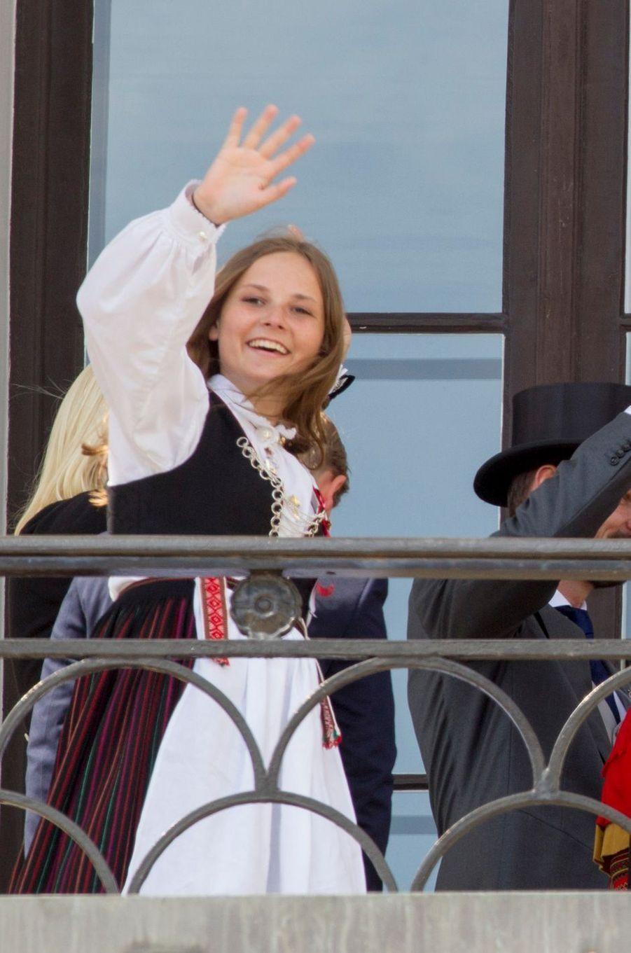 La princesse Ingrid Alexandra de Norvège à Oslo, le 17 mai 2018