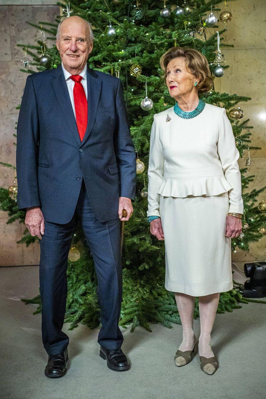 Le roi Harald V de Norvège et la reine Sonja à Oslo, le 15 décembre 2020
