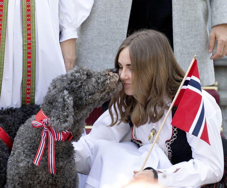 La princesse Ingrid Alexandra de Norvège à Asker, le 17 mai 2019