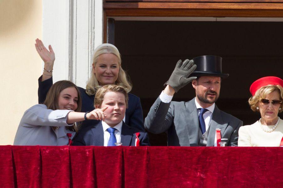 La famille royale de Norvège à Oslo, le 17 mai 2019