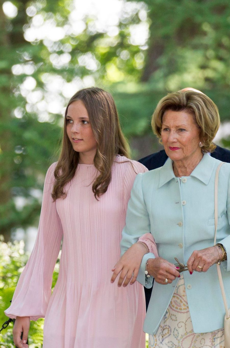 La princesse Ingrid Alexandra et la reine Sonjade Norvège à Oslo, le 7 juin 2018