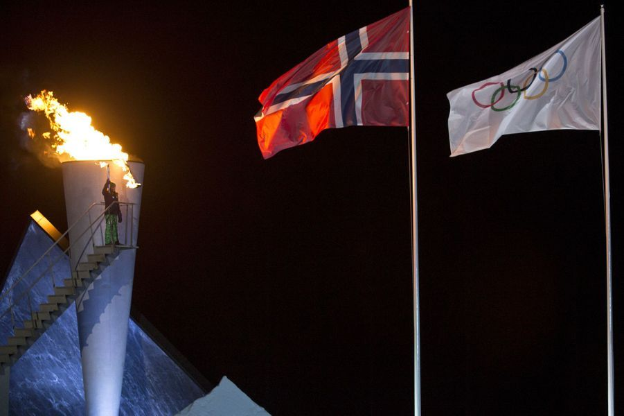 La princesse Ingrid Alexandra de Norvège aux JOJ à Lillehammer, le 12 février 2016