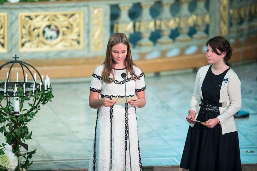 La princesse Ingrid Alexandra de Norvège et sa cousine Maud Angelica Behn à Oslo, le 29 août 2018