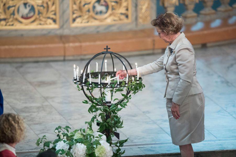 La reine Sonja de Norvège à Oslo, le 29 août 2018