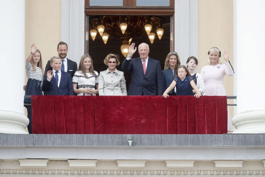 La famille royale de Norvège à Oslo, le 29 août 2018