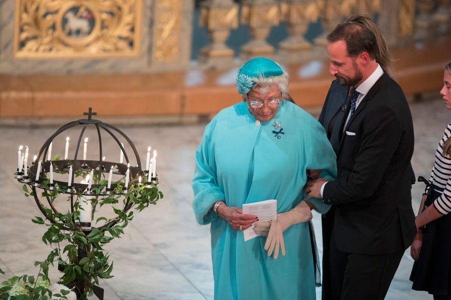 La princesse Astrid et le prince Haakon de Norvège à Oslo, le 29 août 2018