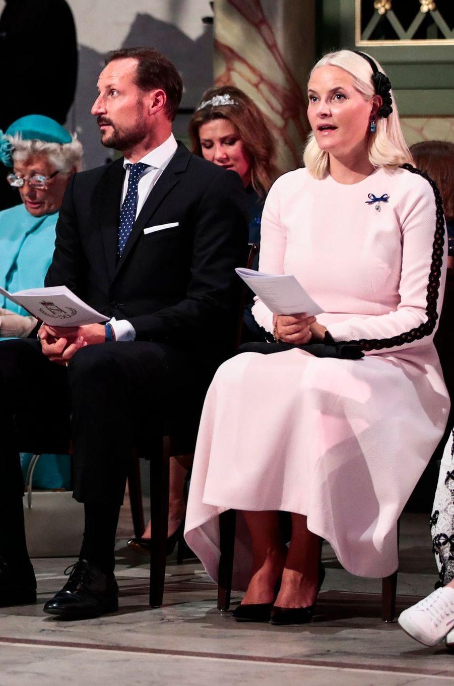 La princesse Mette-Marit et le prince Haakon de Norvège à Oslo, le 29 août 2018