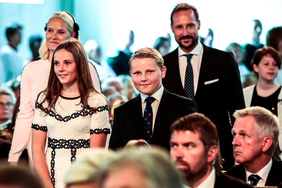 Les princesses Mette-Marit et Ingrid Alexandra et les princes Haakon et Sverre Magnus de Norvège à Oslo, le 29 août 2018