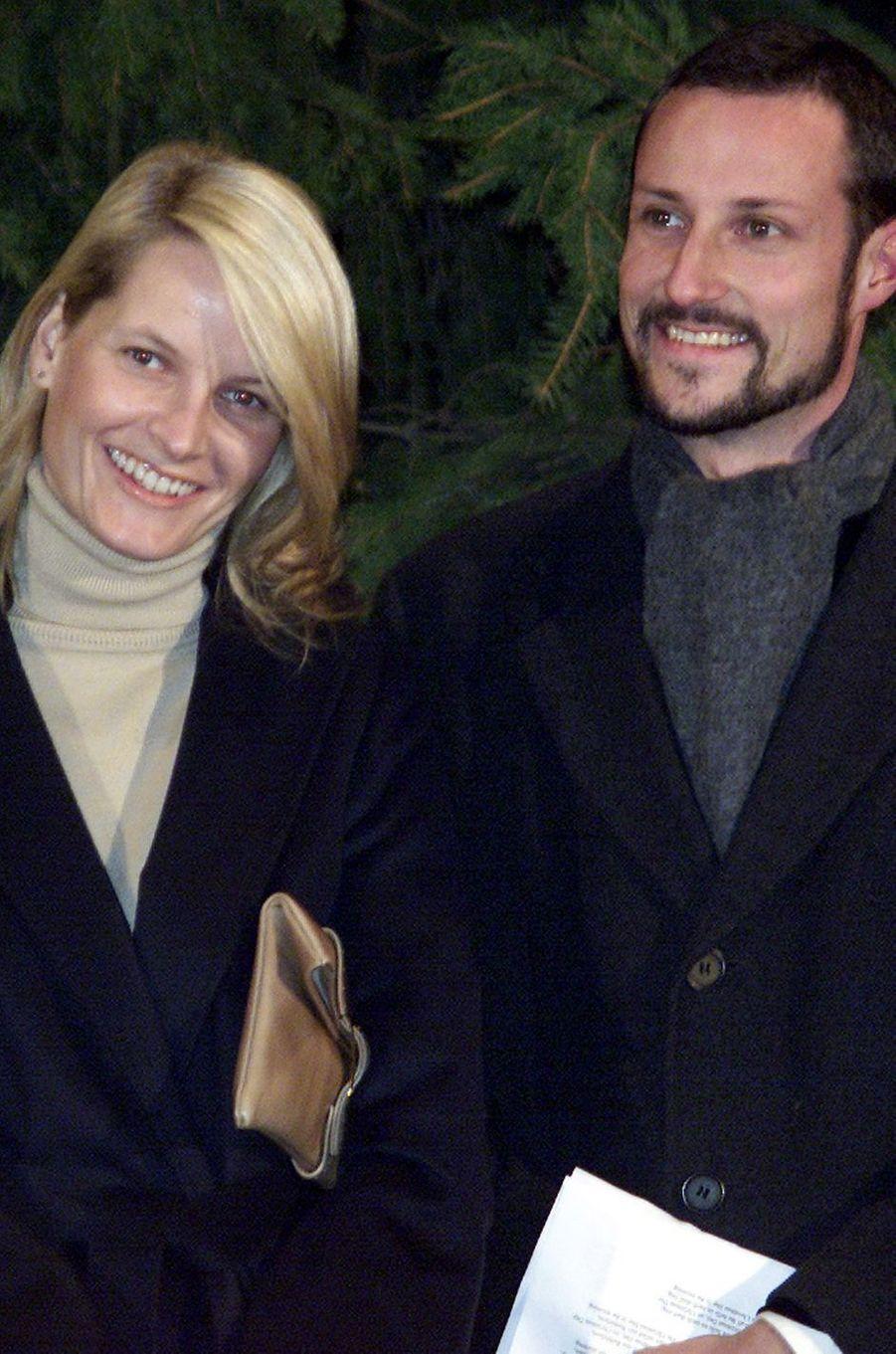 La princesse Mette-Marit et le prince Haakon de Norvège, le 6 décembre 2001