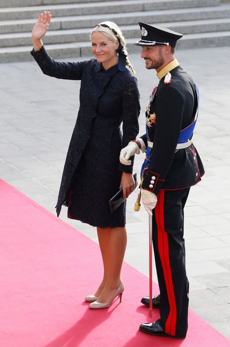 La princesse Mette-Marit et le prince Haakon de Norvège, le 20 octobre 2012