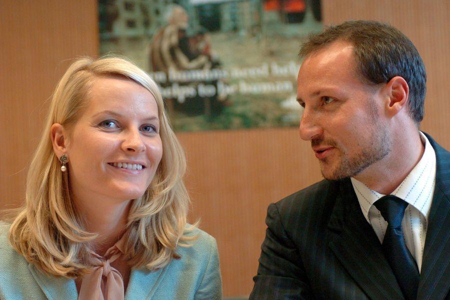 La princesse Mette-Marit et le prince Haakon de Norvège, le 23 septembre 2004