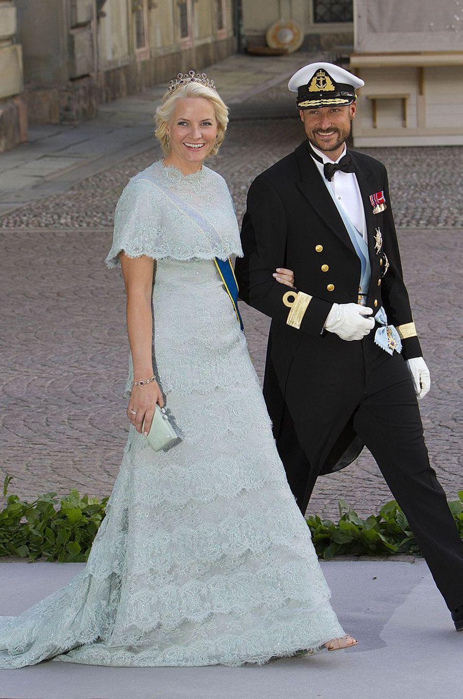 La princesse Mette-Marit et le prince Haakon de Norvège, le 8 juin 2013