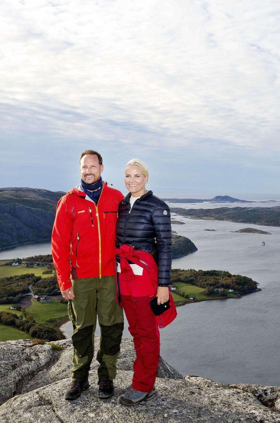 La princesse Mette-Marit et le prince Haakon de Norvège, le 21 septembre 2017