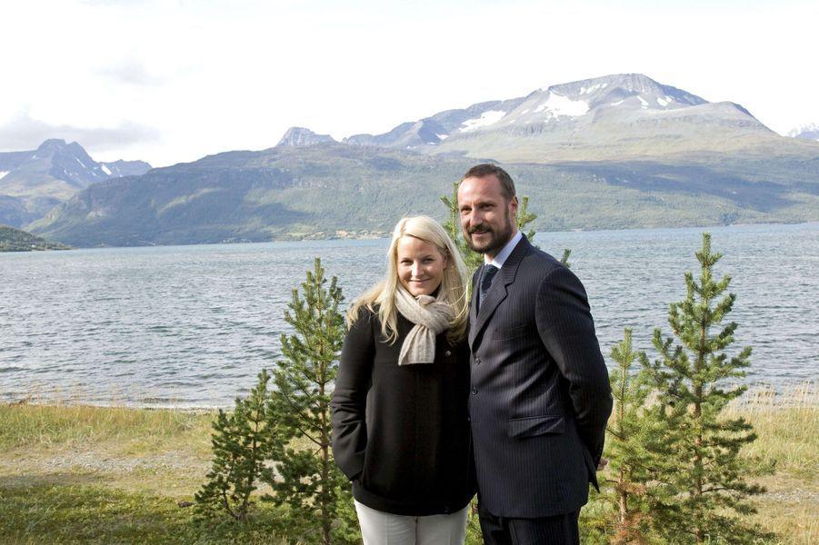 La princesse Mette-Marit et le prince Haakon de Norvège, le 28 août 2007