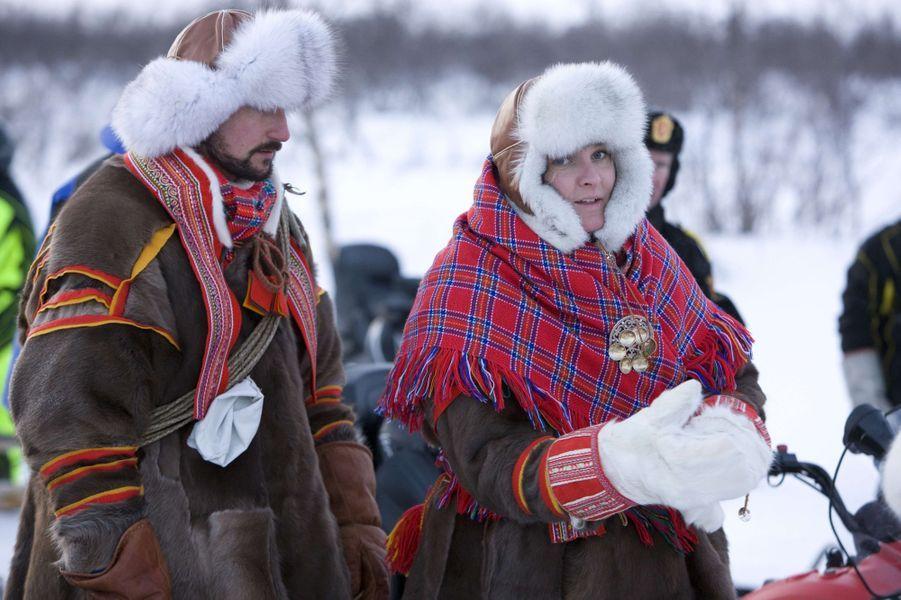La princesse Mette-Marit et le prince Haakon de Norvège, le 5 février 2009