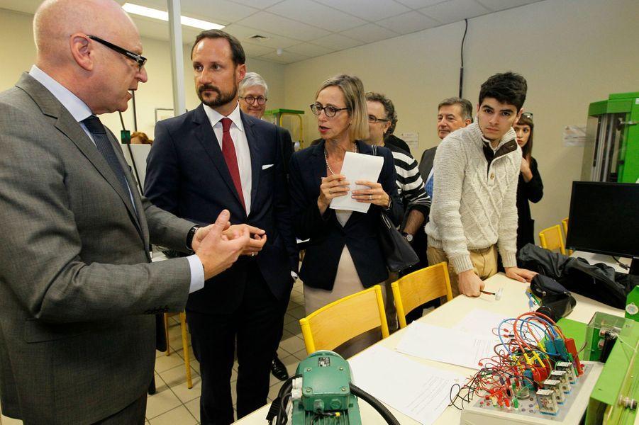 Le prince Haakon de Norvège au lycée Diderot à Paris, le 3 novembre 2015