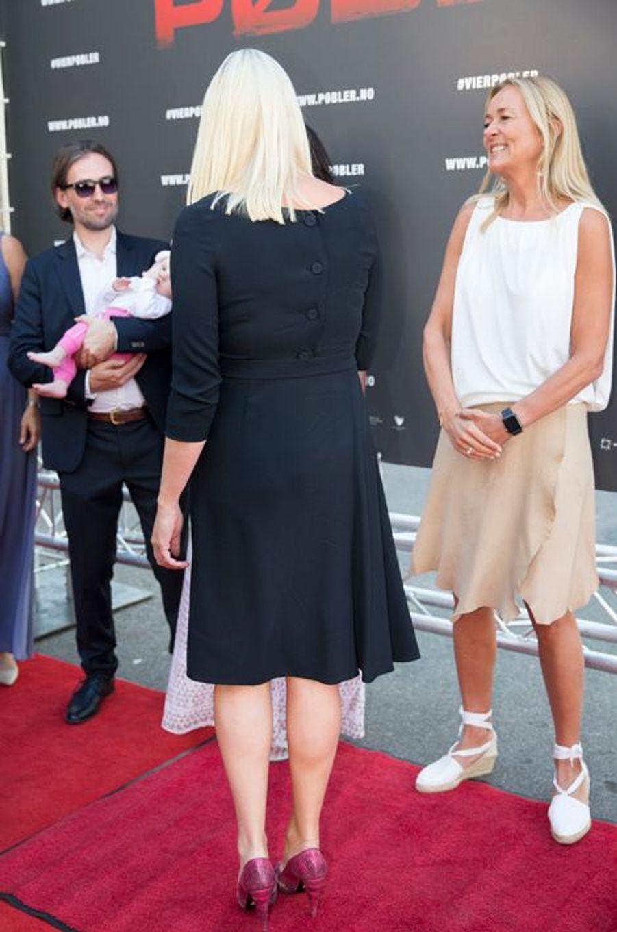 La princesse Mette-Marit de Norvège au Colosseum Kino à Oslo, le 20 août 2015