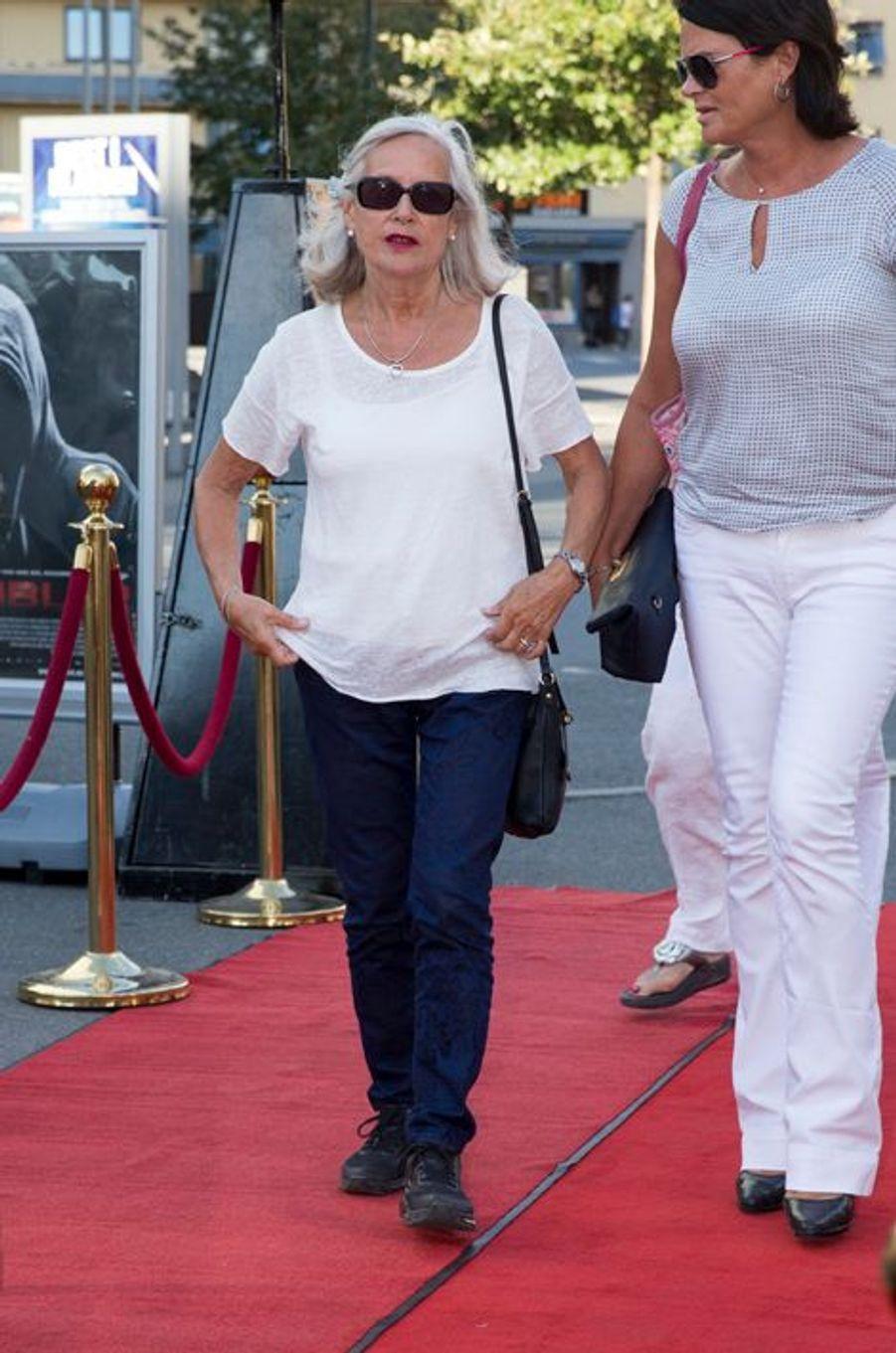 Marit Tjessem et Kristin Hoiby, la mère et la sœur de la princesse Mette-Marit au Colosseum Kino à Oslo, le 20 août 2015