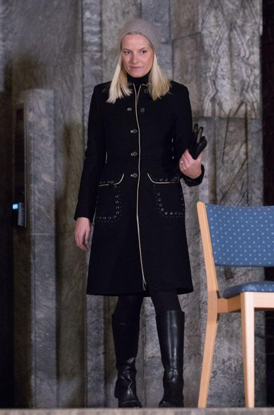 La princesse Mette-Marit de Norvège à Oslo, le 17 novembre 2015