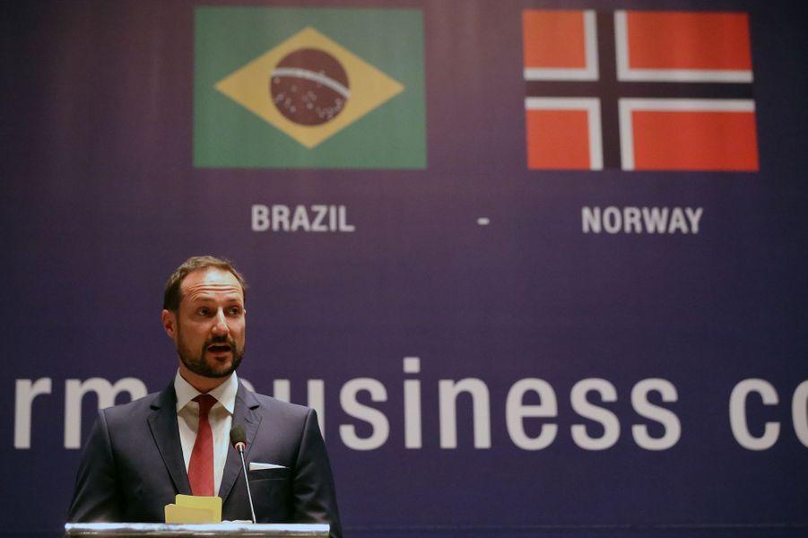 Le prince Haakon de Norvège à Rio de Janeiro, le 17 novembre 2015