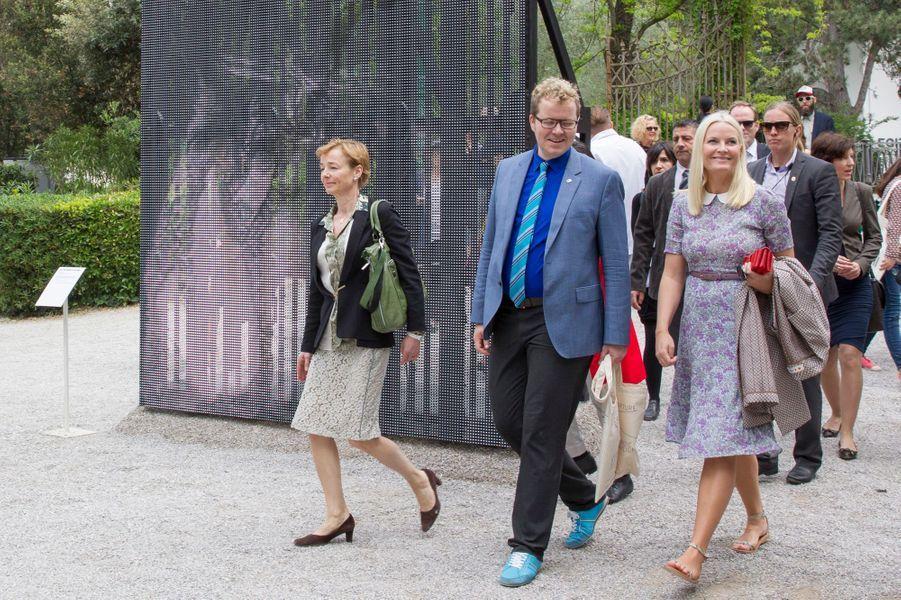 La princesse Mette-Marit de Norvège à la Biennale de Venise, le 6 mai 2015