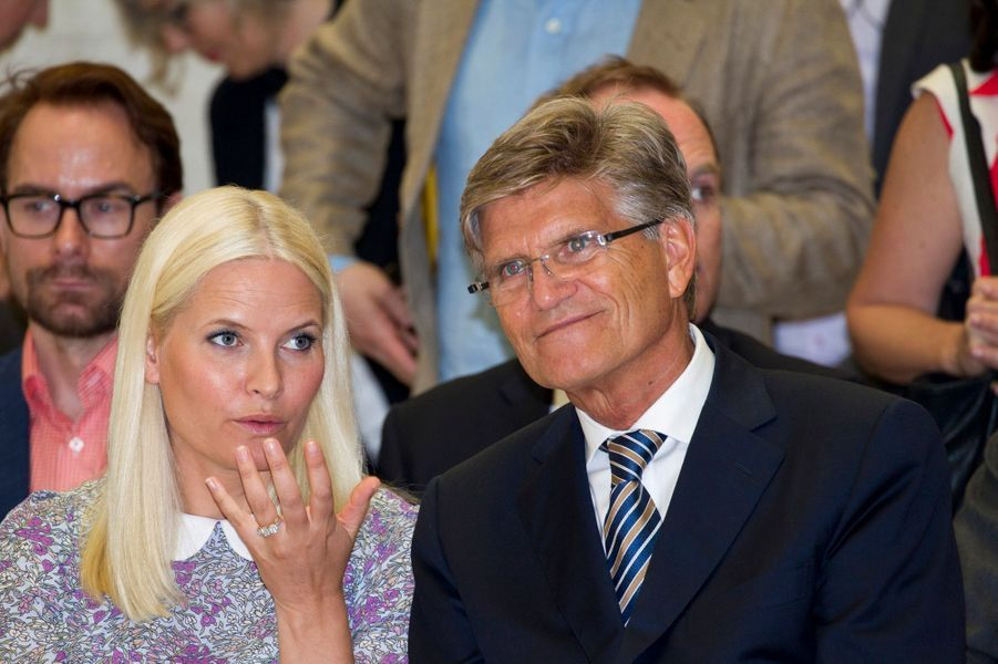 La princesse Mette-Marit de Norvège inaugure le Pavillon nordique à la Biennale de Venise, le 6 mai 2015