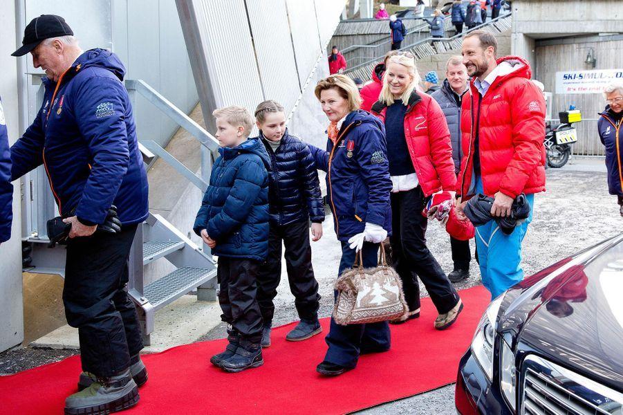 La famille royale de Norvège à Oslo, le 15 mars 2015