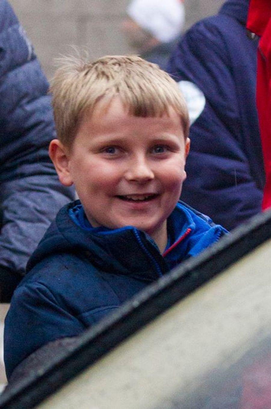 Le prince Sverre-Magnus de Norvège à la Holmenkollen FIS World Cup Nordic à Oslo, le 7 février 2016