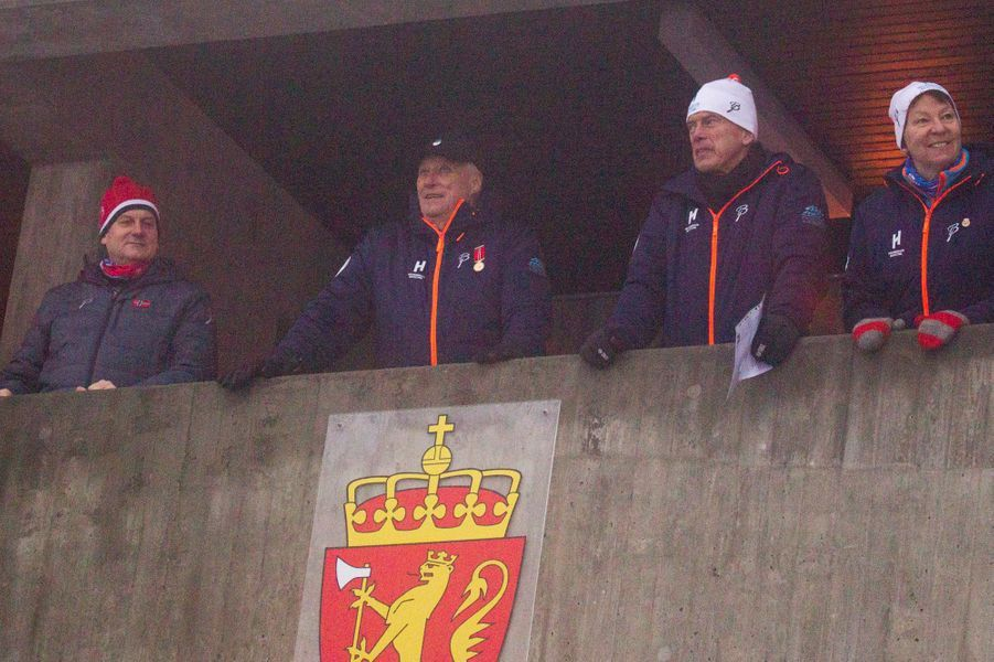 Le roi Harald V de Norvège à la Holmenkollen FIS World Cup Nordic à Oslo, le 7 février 2016