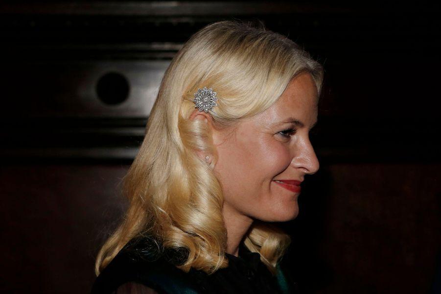 La princesse Mette-Marit de Norvège à New York, le 7 octobre 2015