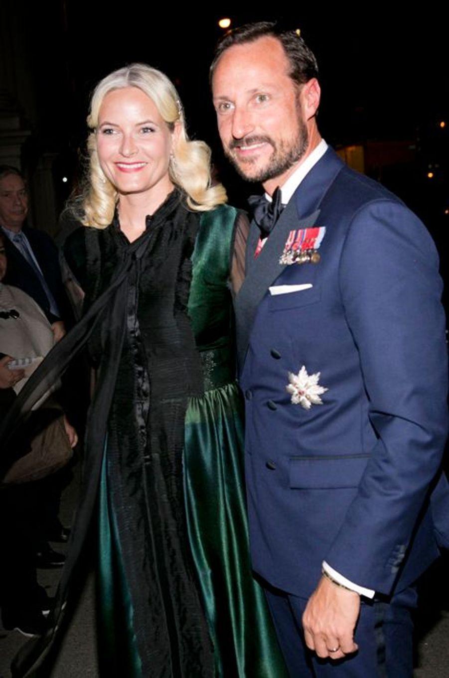 La princesse Mette-Marit et le prince Haakon de Norvège à New York, le 7 octobre 2015