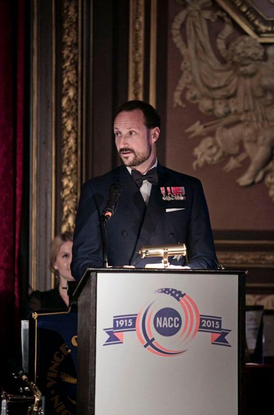 Le prince Haakon de Norvège à New York, le 7 octobre 2015