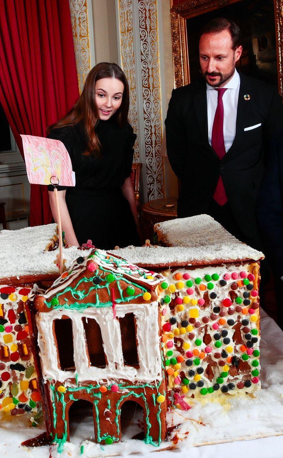 La princesse Ingrid Alexandra et le prince Haakon de Norvège. Photo diffusée le 16 décembre 2019