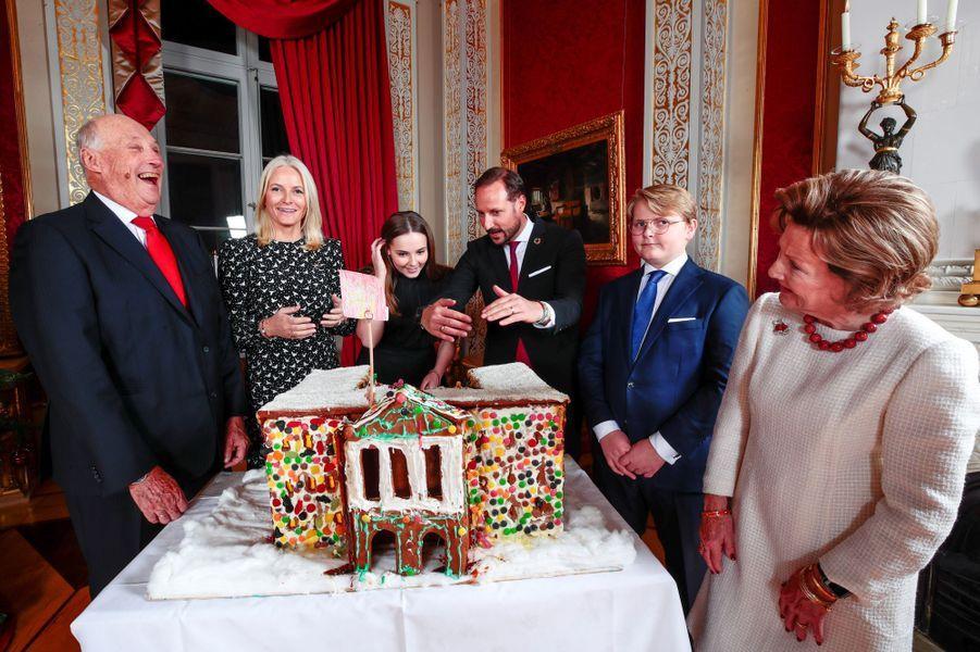 L'une des photos de Noël de la famille royale de Norvège, diffusée le 16 décembre 2019