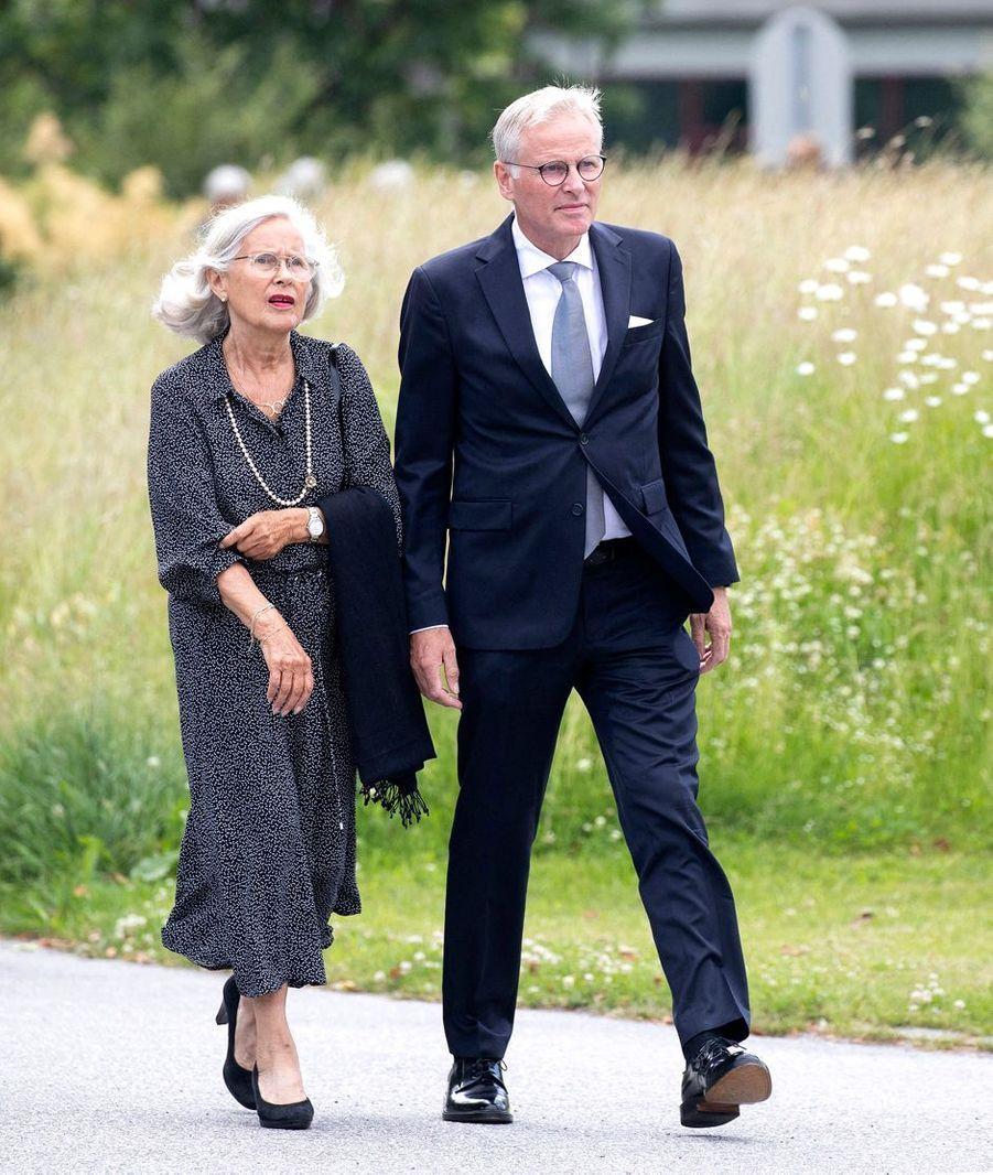 Marit Tjessem et son fils aîné Per Høiby à Kristiansand, le 29 juin 2020