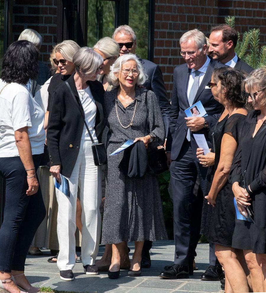 Marit Tjessem avec sa famille à Kristiansand, le 29 juin 2020