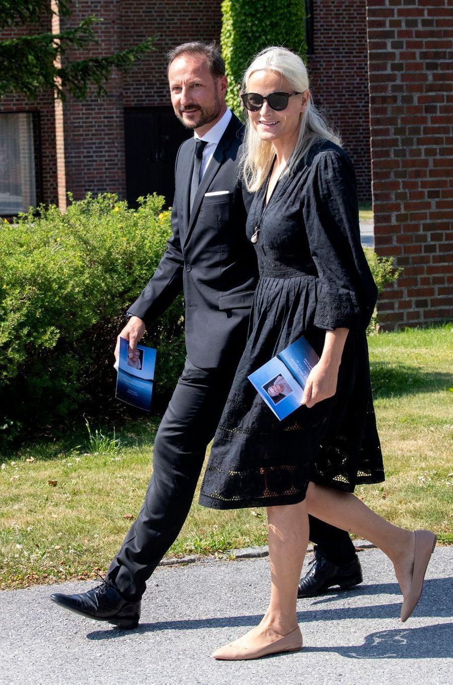 La princesse Mette-Marit et le prince héritier Haakon de Norvège à Kristiansand, le 29 juin 2020