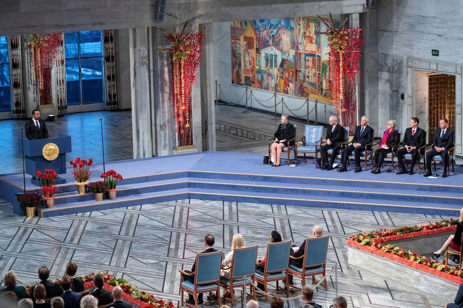 Cérémonie de remise du prix Nobel de la paix 2019 à Oslo, le 10 décembre 2019