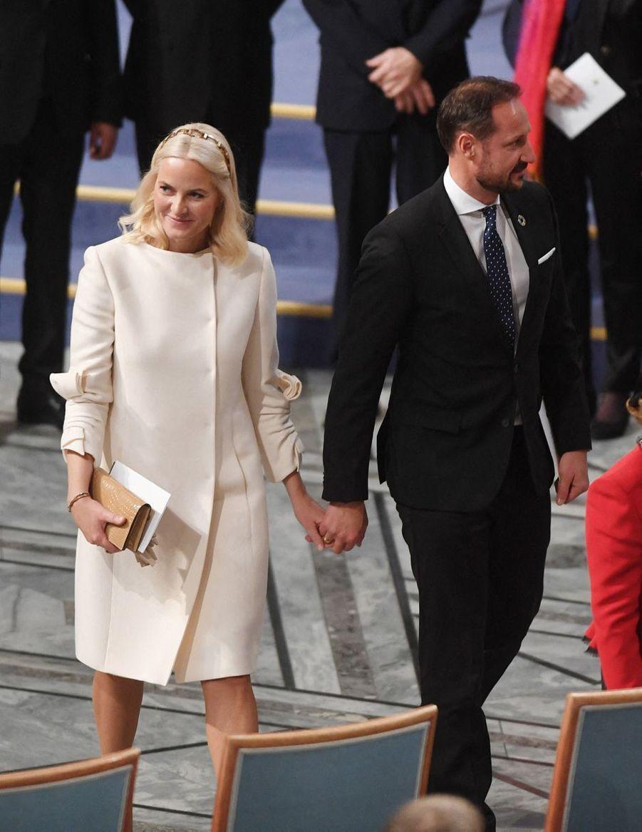 La princesse Mette-Marit et le prince Haakon de Norvège à Oslo, le 10 décembre 2019