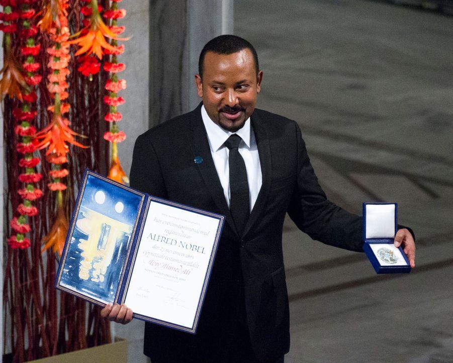 Le prix Nobel de la paix 2019 Abiy Ahmed à Oslo, le 10 décembre 2019