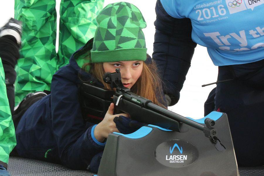 La princesse Ingrid Alexandra de Norvège à Lillehammer, le 13 février 2016